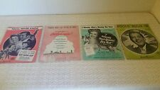 LOT(4) Sheet Music:You'll Never Know,We're in Love,Kissing her Now,Fools Rush In