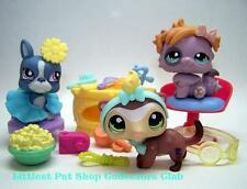 Littlest Pet Shop Pet Styles Salon TERRIER lot #1025 FERRET #1026 CAT #1027 NEW!