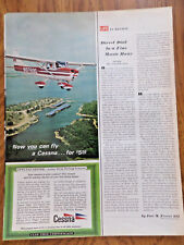 1967 Cessna 150 Airplane Ad Now You can Fly A Cessna for $5.00