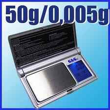 G&G BS 50g/0,005g Feinwaage Laborwaage Digital-Waage Taschenwaage
