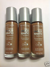 ( LOT OF 3 ) Maybelline Instant Age Rewind Foundation Tan (Dark-1) Silver Cap.