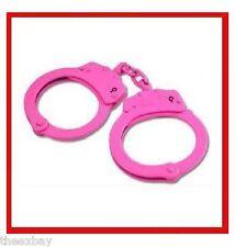 Pink Steel Hand Handcuffs Police Double Locking Cuffs Cuff Hot 2 Keys