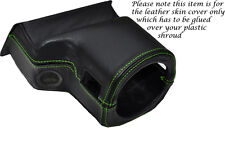 GREEN STITCH FITS ROVER 200 25 MG ZR 99-05 STEERING WHEEL SHROUD LEATHER COVER