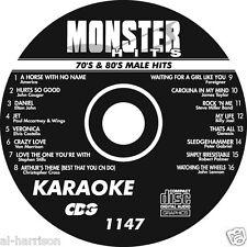 KARAOKE MONSTER HITS CD+G 70's & 80's MALE HITS   #1147