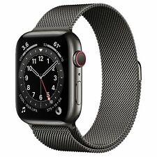 * Apple Watch Series 6 44mm Graphite Stainless Steel Graphite Milanese Loop R