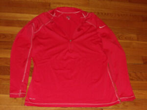 NIKE PRO DRI-FIT 1/2 ZIP LONG SLEEVE PULLOVER JERSEY WOMENS XL EXCELLENT