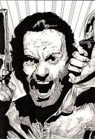 The Walking Dead Original Art Sketch Rick Grimes Andrew Lincoln