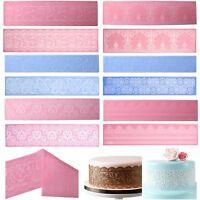 Lace Silicone Mold Mould Sugar Craft Fondant Mat Cake Decorating Baking Tools