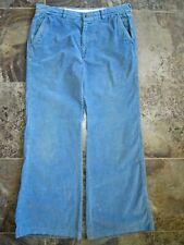 New listing Vtg Levi's Panatela Slacks Pants 33x31 Blue Corduroy Wide Bootcut Leg Hippy Nice