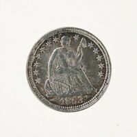 Raw 1853 Seated Liberty H10C With Arrows Ungraded US Silver Half Dime Coin