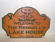 Personalized-Custom-Wood-Sign-WELCOME TO OUR Lake house ANY TEXT Engraved Gift.