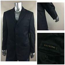 NWOT VALENTINO Made In Italy Dark Blue Striped Men`s Sport Coat 54 Sz 44R