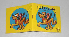 Minilibro PLUTO E LE BELVE Walt Disney Mondadori 1978 Mini-libro