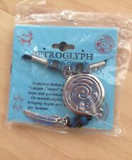 Petroglyph Hope & Guidance Snake Necklace Blue/Black Beads on Sentiment Card NEW