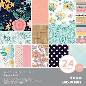"Kaisercraft Paper Pad 6.5""X6.5"" 40/Pkg Paisley Days 883416350668"