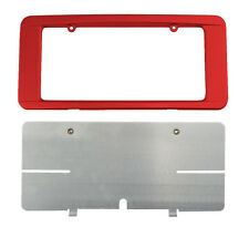 C6 Corvette Custom Painted Rear License Plate Frame - Victory Red 74 GCN WA9260
