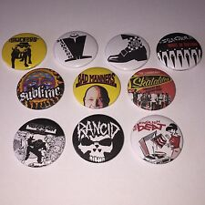10 Ska button badges Madness Bad Manners Rancid The Specials Beat Selecter OpIvy