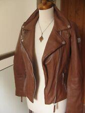 rrp£200 Ladies FREAKY NATION real leather BIKER PRINCESS JACKET size UK 6 8 XS