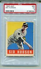 1948 LEAF  #84 SID HUDSON  PSA EX 5  WASHINGTON SENATORS