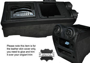 BLACK STITCH CENTER CONSOLE TRIM LEATHER SKIN COVERS FITS HUMMER H2 03-07