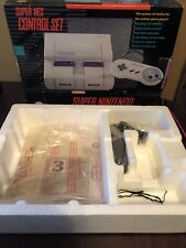 Super Nintendo Control Set SNES Console System EMPTY BOX Styrofoam, Poster, Etc
