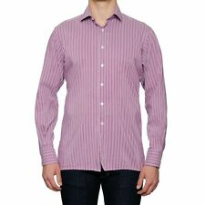 JAY KOS New York Mallow Striped Cotton Shirt US 16.5 EU 42