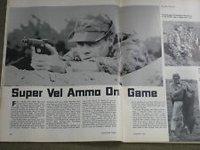 SHOOTING TIMES TESTS SUPER VEL AMMO, PLUS  WEBLEY AUTO PISTOLS