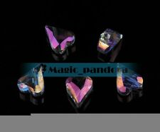 10pcs 12mm Heart Faceted Crystal Glass Spacer Loose Beads Charm Crafts Finding