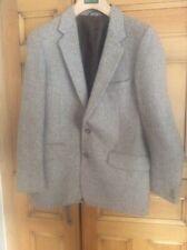 Vintage Men's 38S Herringbone Tweed Wool Jacket by Grosvenor House Great Britain