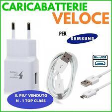 CARICA BATT VELOCE FAST per SAMSUNG E Android NUOVI PRESA + CAVO MICRO USB