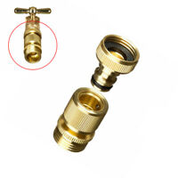 Garden Hose Quick Connector 3/4 Inch GHT Brass Easy Connect Fitting Yard Tools