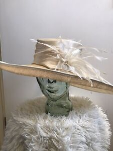 Ladies Hat John Lewis Ivory / Natural Wedding Christening Event