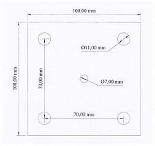 V2A Edelstahl Blech Ankerplatte 100 mm x 100 mm x 6 mm V13