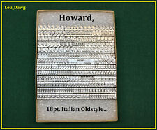 Howard Personalizer Type (  18pt. Italian Oldstyle  ) Hot Foil Stamping Machine