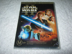 Star Wars 2 - II - Attack of the Clones - New Sealed DVD - R4