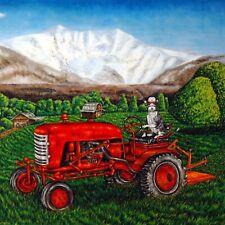 devon rex Cat Print on Ceramic art Tile Coaster gift farm tractor Jschmetz
