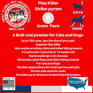1000 Bulk Flea Killer Powder for Dogs & Cat 6 gram / 6,000mg
