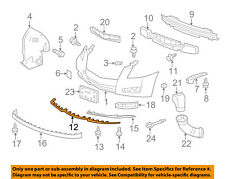 Cadillac GM OEM 10-14 CTS Front Lower Bumper-Spoiler Chin Lip 25970312