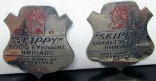1930s Percy Crosbys SKIPPY GOOD EYESIGHT BRIGADE Badge Pinback Button Pair