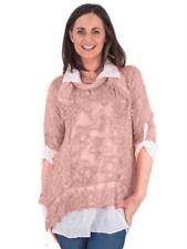 Maglie e camicie da donna camicetta rosa floreale