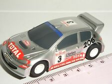 12V MICRO Scalextric - Peugeot 206 WRC Silver - NEW