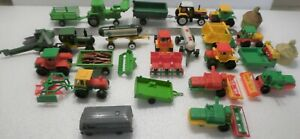 ONE LOT OF FARMING MACHINERY, PLASTIC, CLOSE TO HO SCALE, NO BRAND