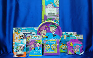 Fairly Odd Parents Party Set # 8 Banner Napkins Plates Invites Tablecover Candle
