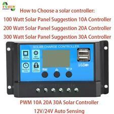 Solar Panel Regler Laderegler 10A 12V 24V Mit Dual USB Ladegerät