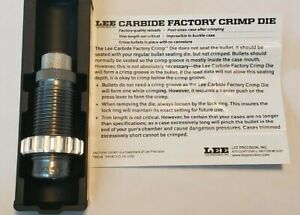 LEE 90861 Carbide Factory Crimp Die for 38 Special   357 Magnum *FAST SHIPPING*