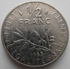 FRANCE 1/2 FRANC 1985