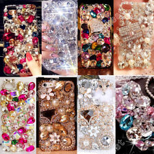 TPU+PC Case Bling Crystal Cover Transparent Rhinestone Shell For Mobile Phone