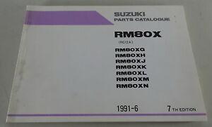 Catálogo de Piezas/Regiones Catálogo Suzuki RM 80X / Etc. Stand 06/1991