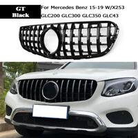 For Mercedes Benz GLC W/X253 Black GT R Front Grille Grill GLC300 GLC350 15-19