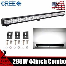 """44inch 288W CREE LED Work Driving Light Bar Spot Flood Combo Jeep Offroad 20"""" 28"""